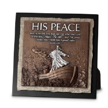 His Peace Stone Table Plaque