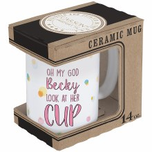 """Oh My God"" Boxed Mug"