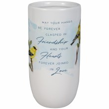 """Friendship And Love"" Vase"