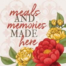"""Meals And Memories"" Trivet"