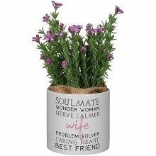 """""""Wife"""" Planter With Artificial"""