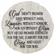 God Didnt Promise Step Stone