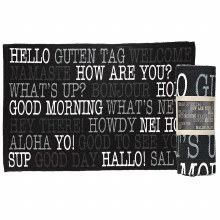 HELLO-COTTON-BLACK RUG