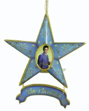 Elvis Star Orna Blue Christmas