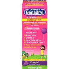 Benadryl-d chld alrgy liq 4 oz