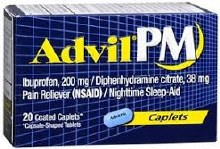 Advil pm 200 mg cpl 20