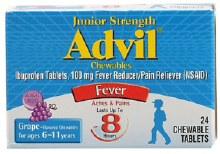 Advil chld jr tab chewgrape 24