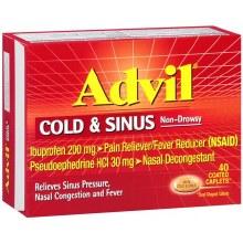 Advil Cold/Sinus Non Drow 40cp