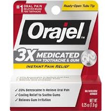 Orajel  gel 0.25oz