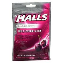 Halls black cherry sugar free