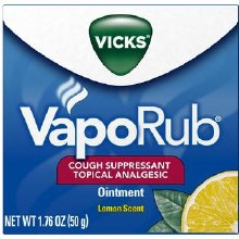 Vicks vaporub jar - lemon