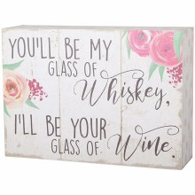 """Whiskey And Wine"" Table Block"