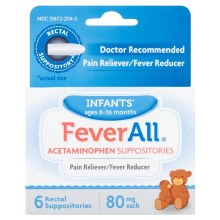Infants Fever All 6 Supp 80mg