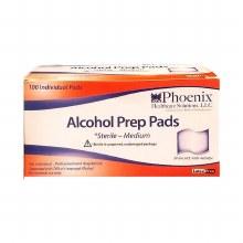 Phoenix Alcohol Pad Med 100ct