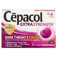 CEPACOL MAX BRRY COUGH LOZ 16