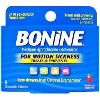 Bonine Motion Sickness 8 Chewa