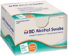 Bd alcoh swab reg disp swb 100
