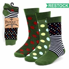 Men's Casual Socks Green 3pk