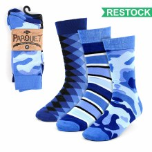 Men's Casual Socks Blue 3pk