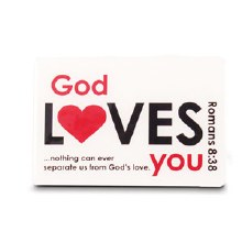 God Loves You Magnet White