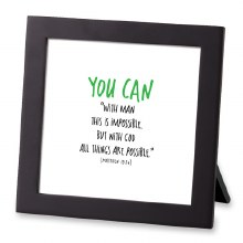 You Can Tiny Letter Framed Art