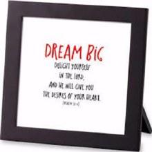 Dream Big Letter Framed Art