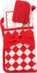Red & white potholder gift set