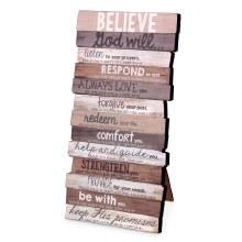 Believe Plaque