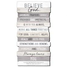 Believe II Plaque