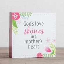 Gods Love Shine Plaque