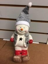 Ceramic Snowman w/ LED Lights