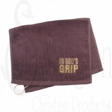 Golf Towel In Gods Grip Burgun