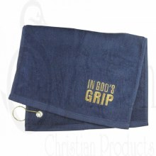 Golf Towel In Gods Grip Navy