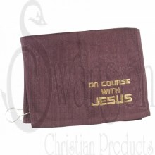 Golf Towel On Course W/ Jesus