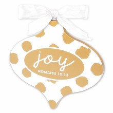 Ornament-Joy White/Gold