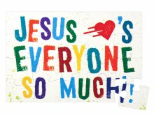 Jesus Loves Every Puzzle Magne