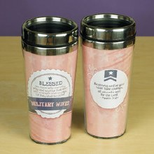 Military Wife Travel Tumbler