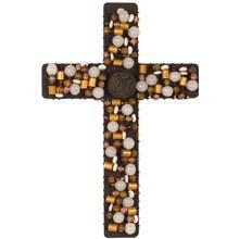 Beadworks Amber Cream Cross