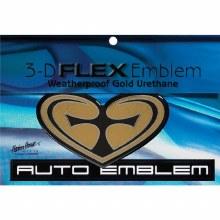 Heart Cross Car Emblem Gold