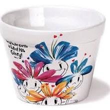 Stone flower pot 3x4