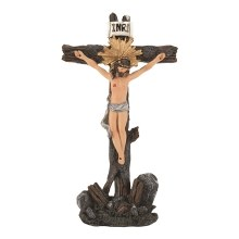 CRS TTOP CRUCIFIX PAINTED 8.5