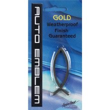 Auto Emblem Sm Gold Fish