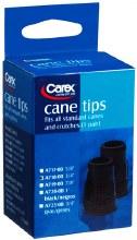 """Tip cane blk 3/4"""" black"""
