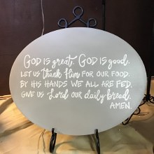 "Gray Wooden ""God Is Great"" Plq"