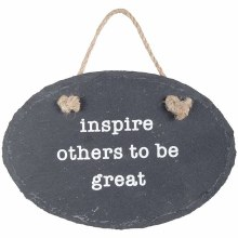 Inspire Slate Plaque w/ Stake