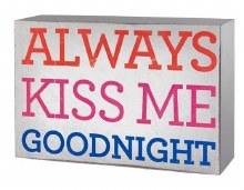 Always Kiss Me Goodnight Wall