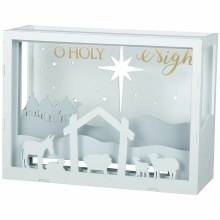 """O Holy Night"" Shadow Box"