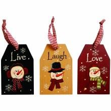 Live, Laugh, Love Ornaments Ea