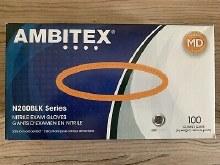 Ambitex BLK Med Nitrile Glove