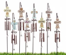 Cross Windchime Garden Stake
